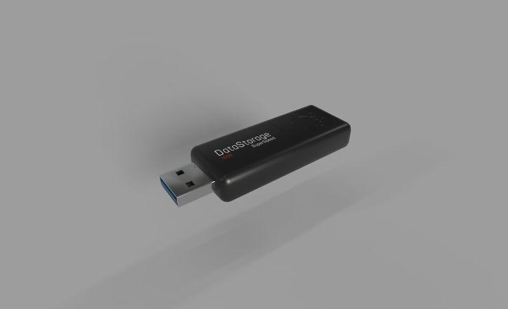 CC0 3D Models || usb stick 3d model free