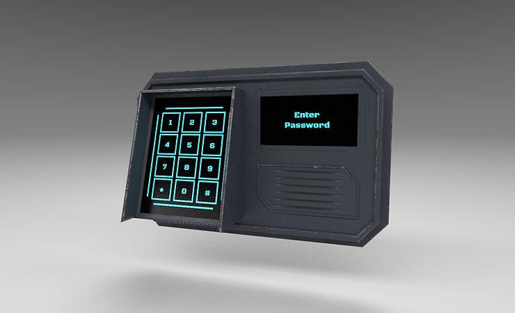 sci fi keypad 3d model free