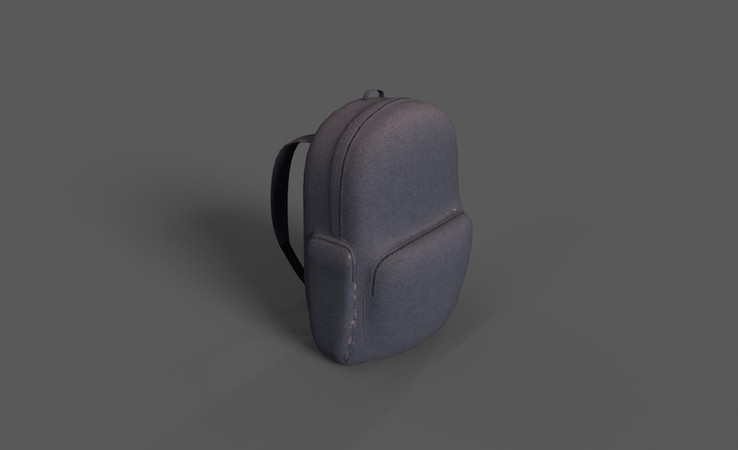 free backpack 3d model