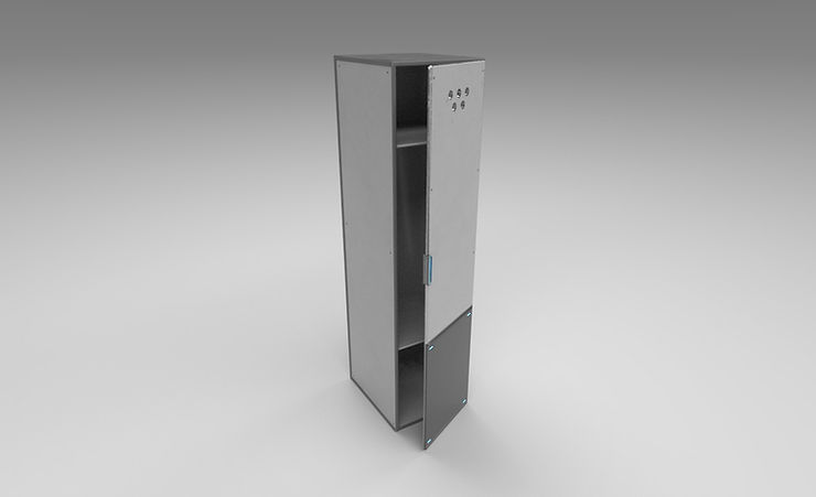 scifi locker 3d model free