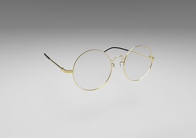 Public domain 3D model of stylish round glasses