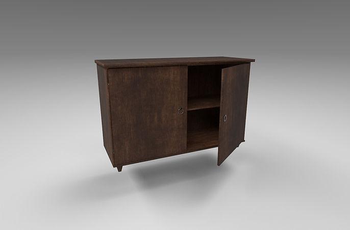 wooden cupboard 3d model free