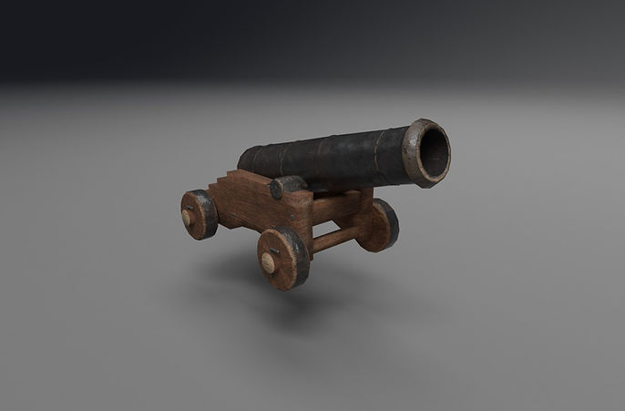 medieval cannon 3d model free