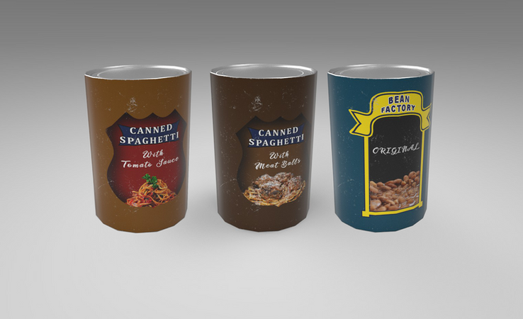 canned food 3d model free