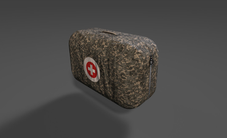 military first aid kit 3d model