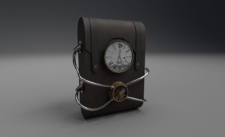steampunk backpack 3d model