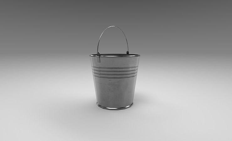 steel bucket 3d model free