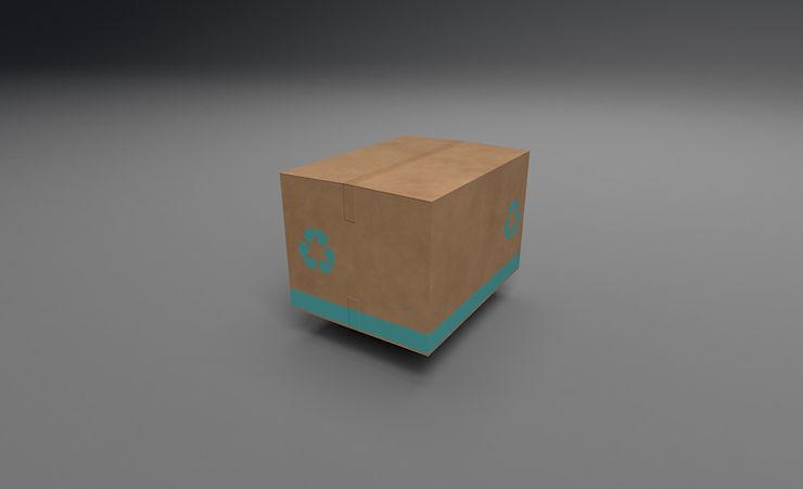 CC0 3D Models || cardboard box 3d model free