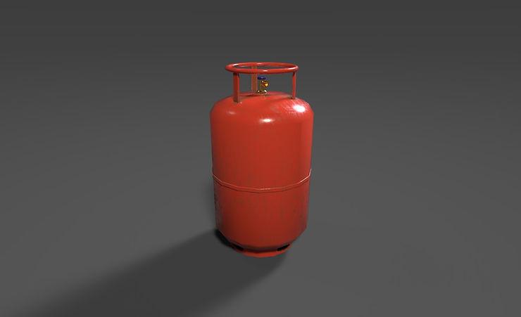 free 3d gas cylinder model