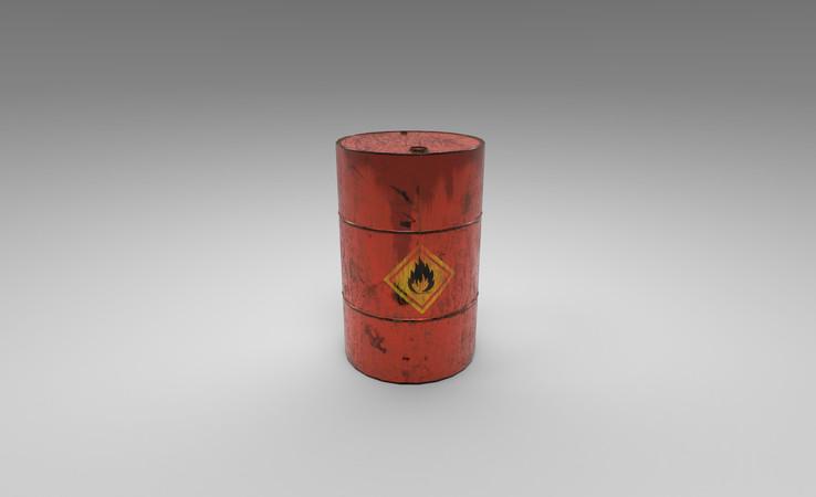explosive barrel 3d model free download