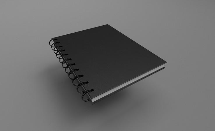 notebook free 3d model