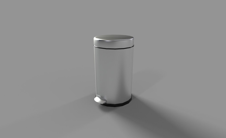 bathroom trashcan 3d model free