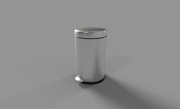 bathroom trashcan 3d model free