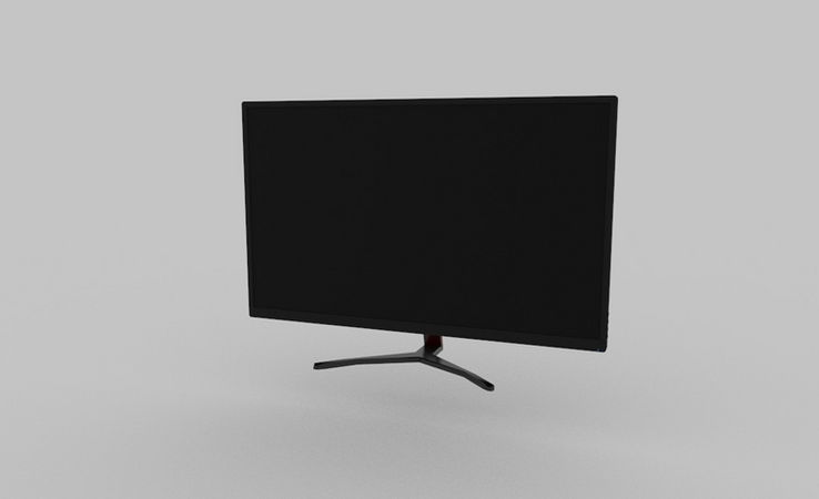 pc monitor 3d model free