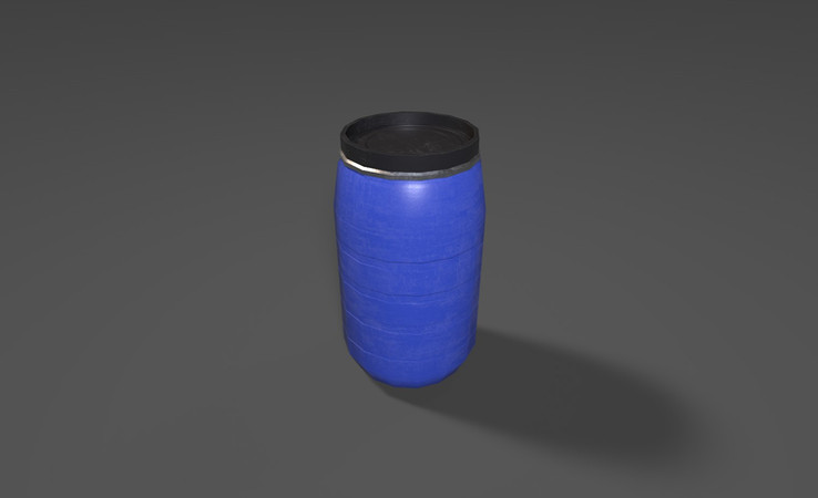 free water barrel 3d model