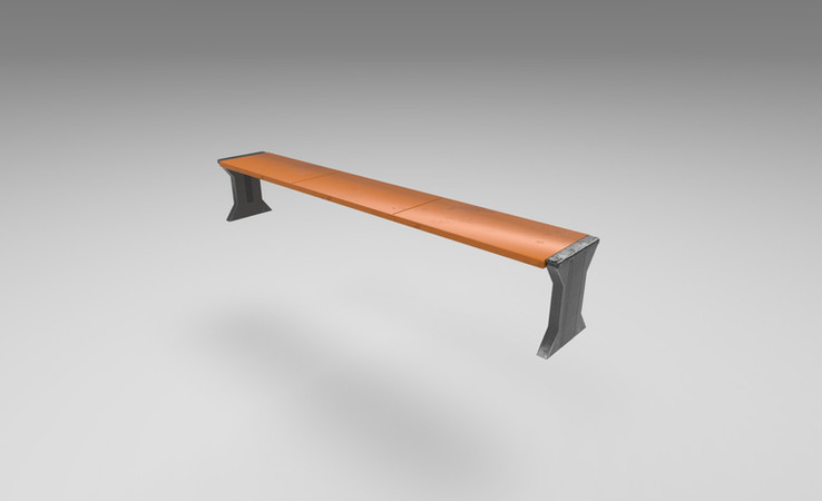 scifi bench 3d model free