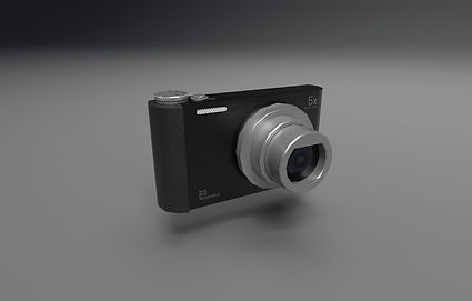 Public domain 3D model of digital camera