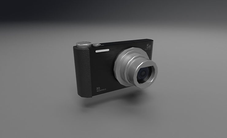 CC0 3D Models || Digital camera 3d model free