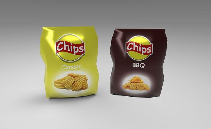 bag of chips free 3d model
