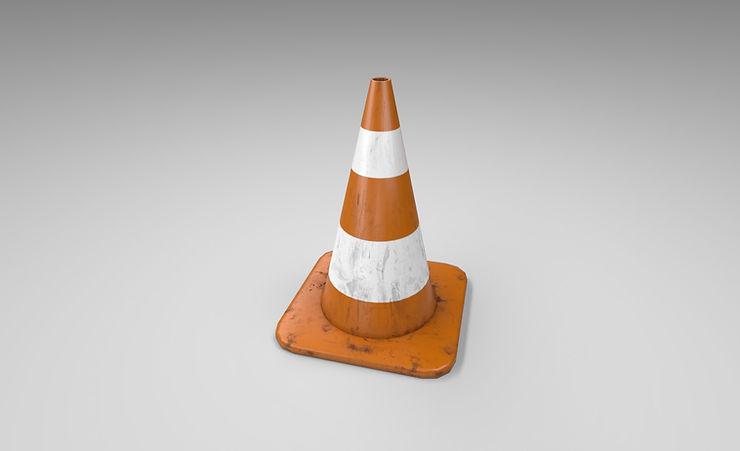 traffic cone 3d model free