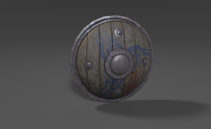 wooden shield 3d model free