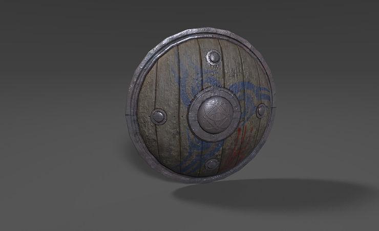 wooden shield 3d model free