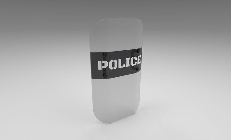 riot shield 3d model free download