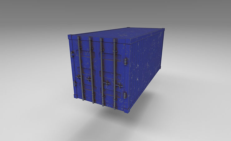 shipping container 3d model free