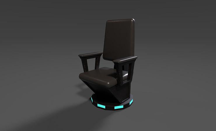 sci fi chair 3d model