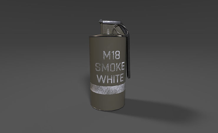 smoke grenade 3d model free