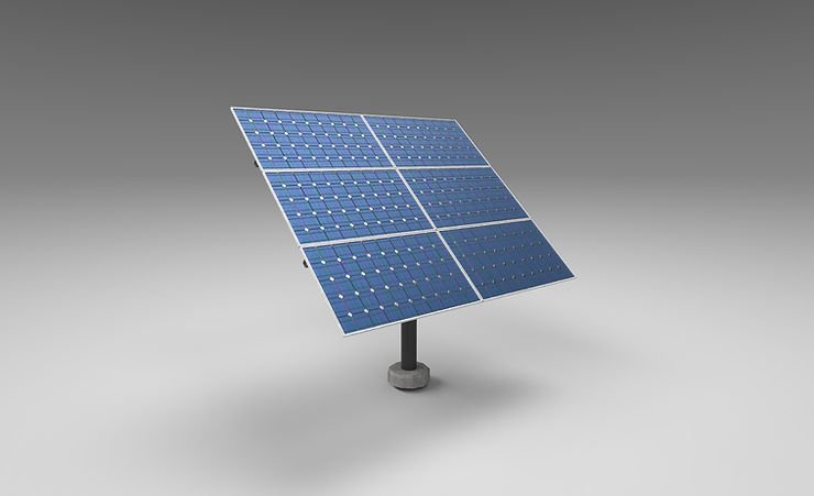 solar panel 3d model free download