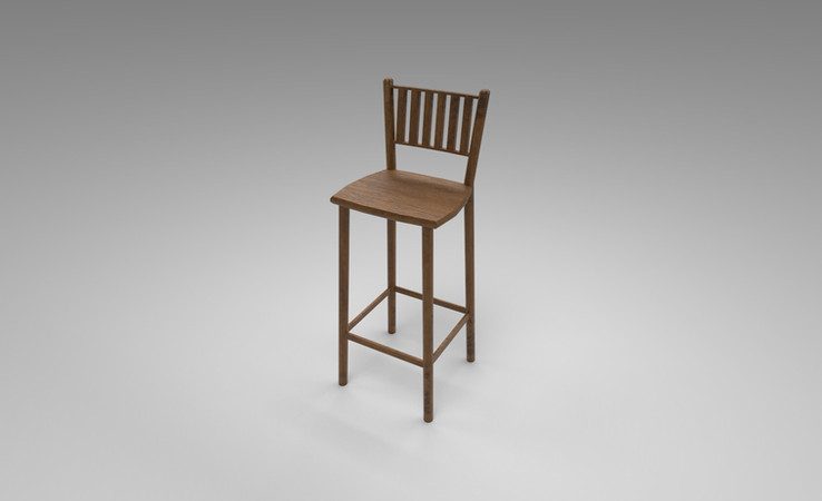 wooden stool 3d model free download