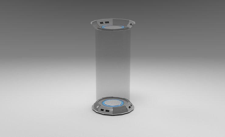 scifi chamber 3d model free