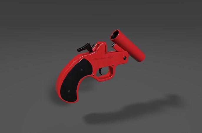 flare gun 3d model free