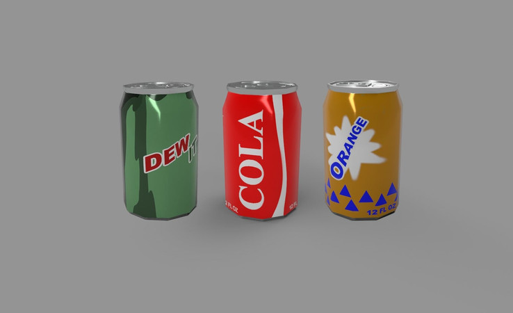 soda can free 3d model