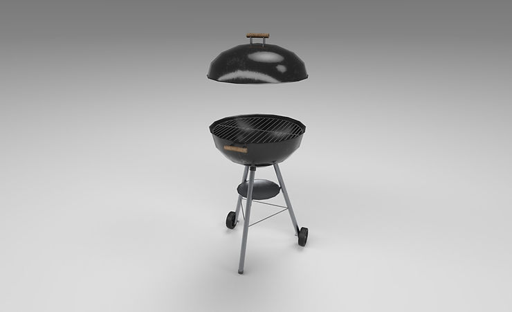 Charcoal grill 3d model free download