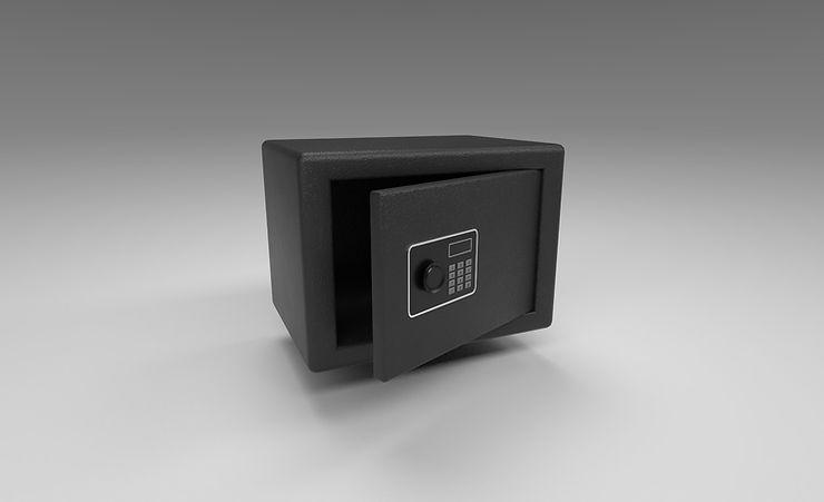 safe with keypad 3d model free