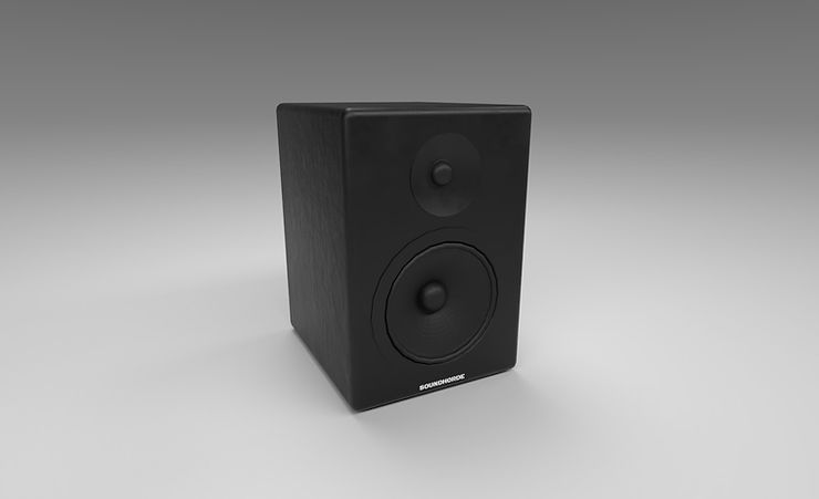 speaker 3d model free download