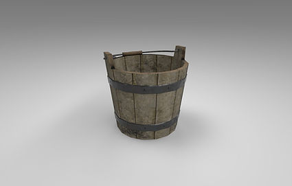 Medieval Water Bucket 3D Model CC0