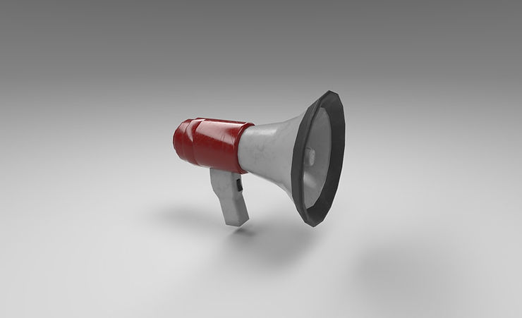 megaphone 3d model free