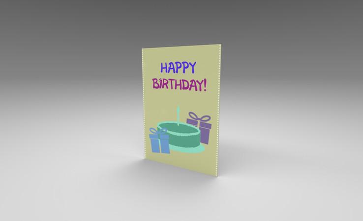 free birthday card 3d model
