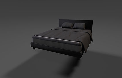 Public domain 3D model of a double bed