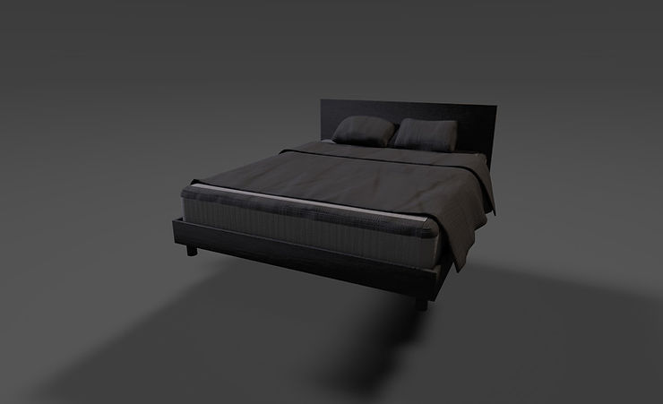 double bed 3d model free download