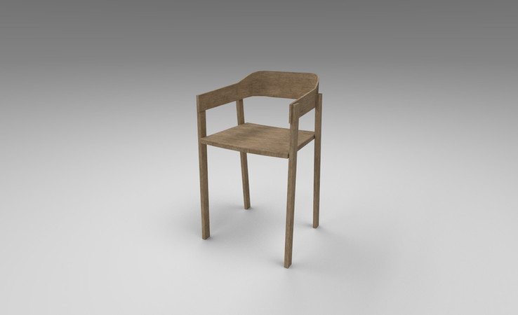 wooden chair 3d model free