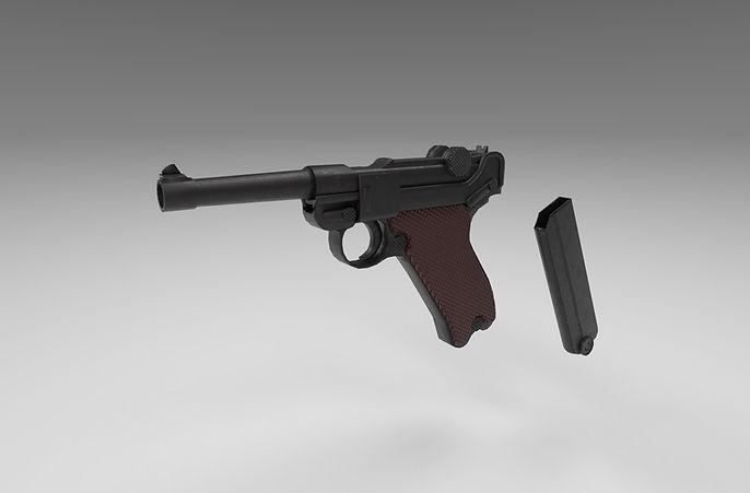 luger pistol 3d model free