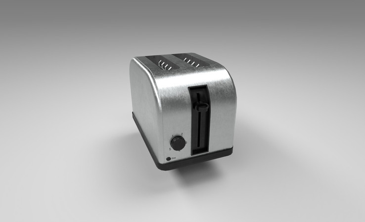 toaster 3d model free