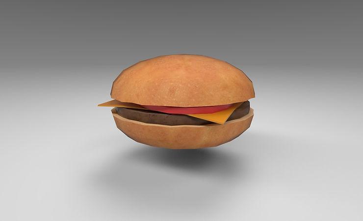 hamburger 3d model free download