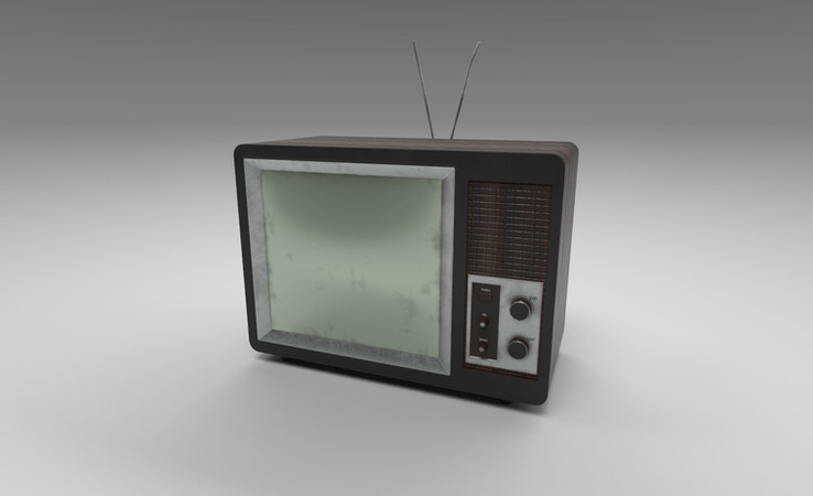 vintage tv 3d model free