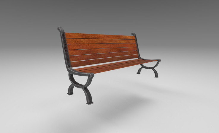 street bench 3d model free download