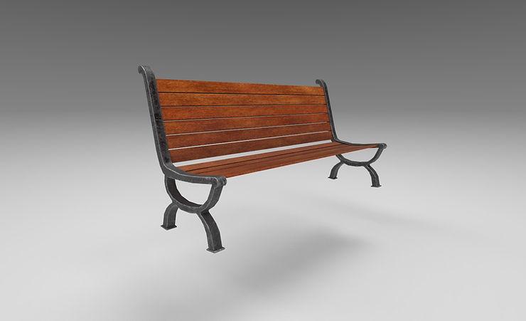 street bench 3d model free download